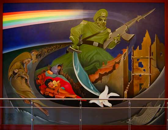 Strong statements urban life wash park for Denver international airport mural